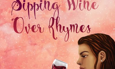 """Sipping Wine Over Rhymes poetry book cover"