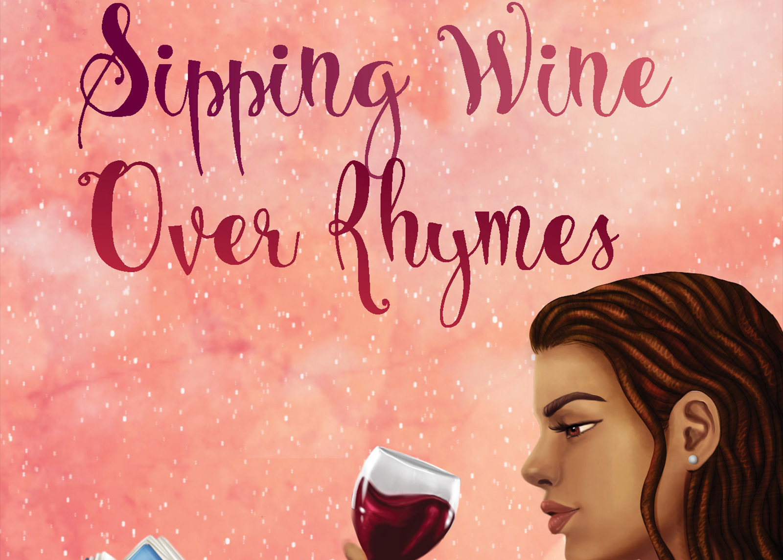 """""""Sipping Wine Over Rhymes poetry book cover"""
